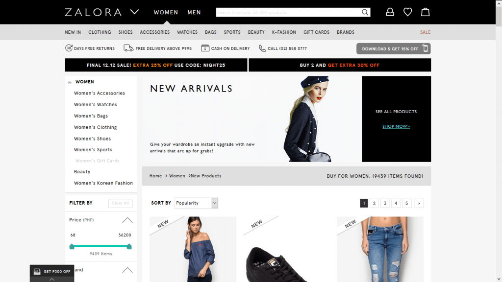 Shopping at Zalora will typically offer several categories related to  fashion 93bee2f974ca1